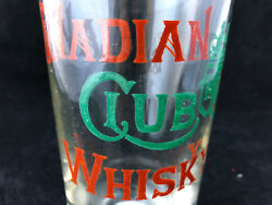 Antique Glass Advertising Emaiilé Canadian Club Whisky Antique