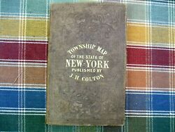 1858 Colton's Railway And Township Map Of The State Of New York