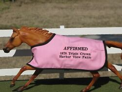 AFFIRMED TB embroidered blanket Breyer thoroughbred race horse TRIPLE CROWN