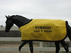 FOREGO custom embroidered blanket fits Breyer thoroughbred race horse