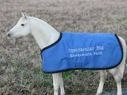 SPECTACULAR BID TB embroidered blanket Breyer thoroughbred race horse