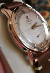 Omega Seamaster Automatic Small Seconds Rose Gold Steel Cal 491 1950s