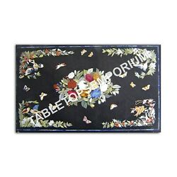 5and039x3and039 Black Marble Dining Center Table Top Butterfly Art Occasional Decor E993a