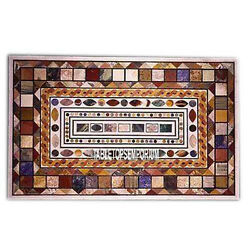 5and039x3and039 Marble Dining Table Top Mosaic Stone Inlay Furniture Garden Hallway Decor
