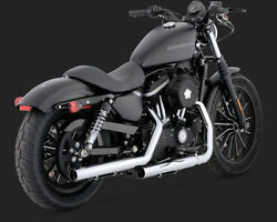 Vance And Hines Straightshots Slip-ons Chrome Exhaust 04-13 Hd Sportster 16819