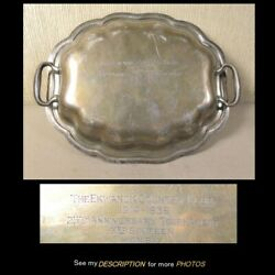 1939 Sterling Golf Trophy Ekwanok Country Club Manchester Vt Covered Dish
