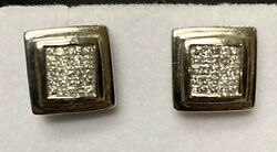Diamond 14k Solid White Gold Cuff Link For Men