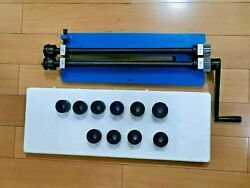 Rm18 Bead Roller Former Swager Rotary Swaging Machine 457mm 18 1.2mm 6 Roll Set