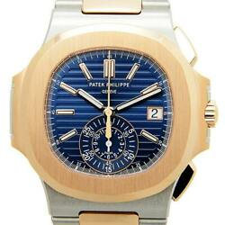 Patek Philippe Nautilus Chronograph Steel & 18k Rose Gold Watch BoxPapers 5980