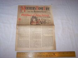 1938 Mother's Home Life And The Household Guest - Christmas Newspaper / Magazine