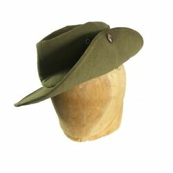 French Tropical Slouch Bush Hat Indochina Theatre Made 1948