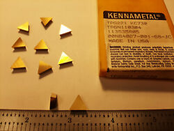 Kennametal Tpg221 Kc730 Carbide Inserts 10 Pcs Made In Usa