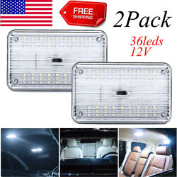 2xnew 12v 36 Led Car Vehicle Interior Dome Roof Ceiling Reading Trunk Light Lamp