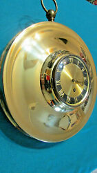 Jewel Wall Clock Gold Circle 8 Day With Key Made In Germany 13 Large,diameter.