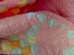 VINTAGE QUILT- 100% Hand Quilted-S.Louisiana-U.S.SELLERFREE PRIORITY SHIPPING🔥