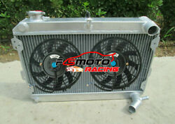 3 Core Aluminum Radiator And Fans For Mazda Rx7 Rx-7 Sa/sb S1 S2 S3 1979-1985 Mt