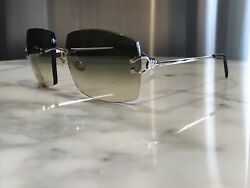 Cartier La Dona Solid 18k White Gold Sunglasses Glasses Decor Giverny Malmaison