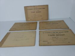 Antique Lot Of 5 Pittsburgh And Lake Erie Railroad Co. Time Books Train Dec. 1903