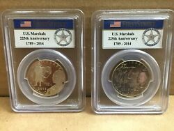 2015-d And S 50c Us Marshals Service Comm Pcgs Ms69 And Pr69dcam 2 Coins