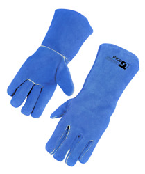 5 Doz Pack Welding Gloves Heat Resistant Cow Split Leather Bbq/camping/cooking