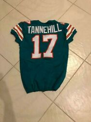 Ryan Tannehill 2015 Game Used Worn Tbc Jersey 17 Dolphins Titans Rare