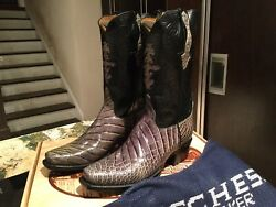 Lucchese New Limited Edition Classic Everglades Crocodile Menand039s Boots Size 8.5