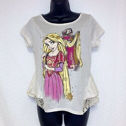 Disney Store Med Rapunzel & Mother Gothel Fairytale Designer Lace Shirt Tangled