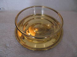 Cut Crystal And His/her Dish Silver Vermeil Minerve Baccarat And Puiforcat