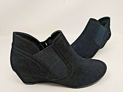 NEW! Croft and Barrow Women's Serf Ankle Boots Black #113186 2B tp