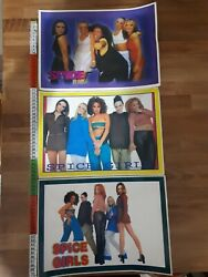 Spice Girls Posters And Stickers And Postcards Lot For Collectors And Fans