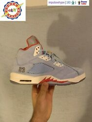 Air Jordan 5 Trophy Room Ice Blue Size 8-13 ds Brand New✅ Fast Free Shipping✅