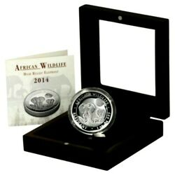 2014 Somali Republic High Relief Silver Elephant 1 Oz Coin Proof 999
