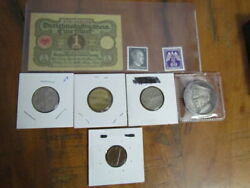 Www2 Rare Nazi Coins / Mark With Stamps