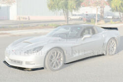 Zr1 Extended Front Lip | Side Skirts And Rear Spoiler For 05-13 Corvette C6 Base