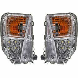 Turn Signal Light For 2010-2015 Toyota Prius Plastic Lens Lh And Rh Set Of 2 Capa