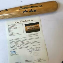 Beautiful Ted Williams The Kid Signed Inscribed Game Model Bat With Jsa Coa