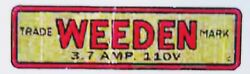 Replacement Water Slide Decal For Weeden Steam Toy