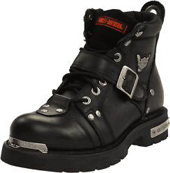 HARLEY DAVIDSON MENS BRAKE BUCKLE LEATHER MOTORCYCLE BOOTS D91684