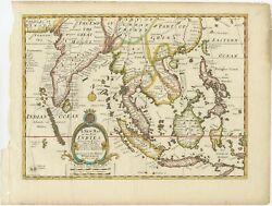 Antique Map Of The East Indies By Wells 1712