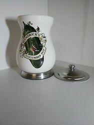 Hendricks Gin Advertising Official Merchandise Ceramic Cucumber Pot With Lid