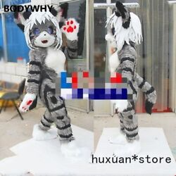 2020 Fox Cat Mascot Costume Suits Cosplay Party Game Dress Outfit Carnival Xmas
