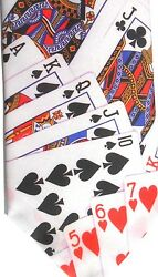 Ralph Marlin Men's Polyester Tie 55.5 X 3.75 Wally Wear Playing Cards