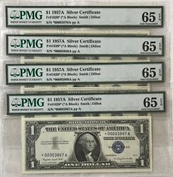 4 1 Dollar Bill 1957a Silver Certificate Star Low Serial Number 00003867a