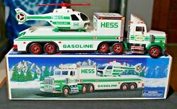 1995 Hess Toy Truck And Helicopter - Original Box - Display Only - Lights Work