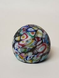 Vintage Paperweight Art Glass Millefiori Antique Collectible