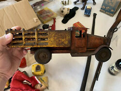 Vintage Shell Motor Oil Metalcraft Toy Truck Gas Oil Soda Cola