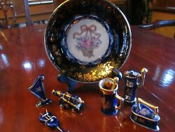 Limoges Castel France 22k Gold. 7 Pieces. Perfect Condition Except Small Chip On