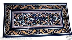 4'x2' Marble Dining Room Table Top Marquetry Inlay Beautiful Love Gifts Decor