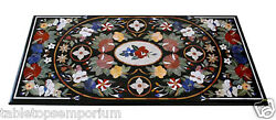 4and039x2and039 Marble Dining Table Top Real Inlay Mosaic Style Furniture Art Home Decor