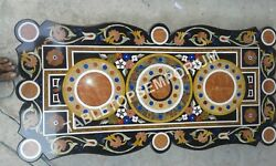 4'x2' Italian Marble Collectible Marquetry Inlaid Dining Center Table Top E344